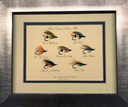 Salmon Fly (Rectangular Mount) - Framed Flies.co.uk