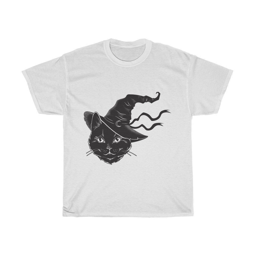 Black Cat Witch Halloween Tee