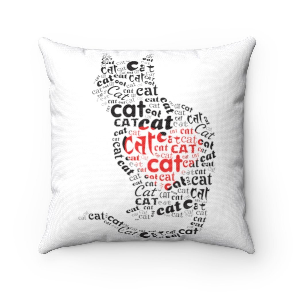"Cat Lover Heart Cushion Home Decor 20"" x 20"""