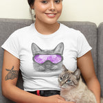 Cat with a Ski Mask - Purple T-Shirt
