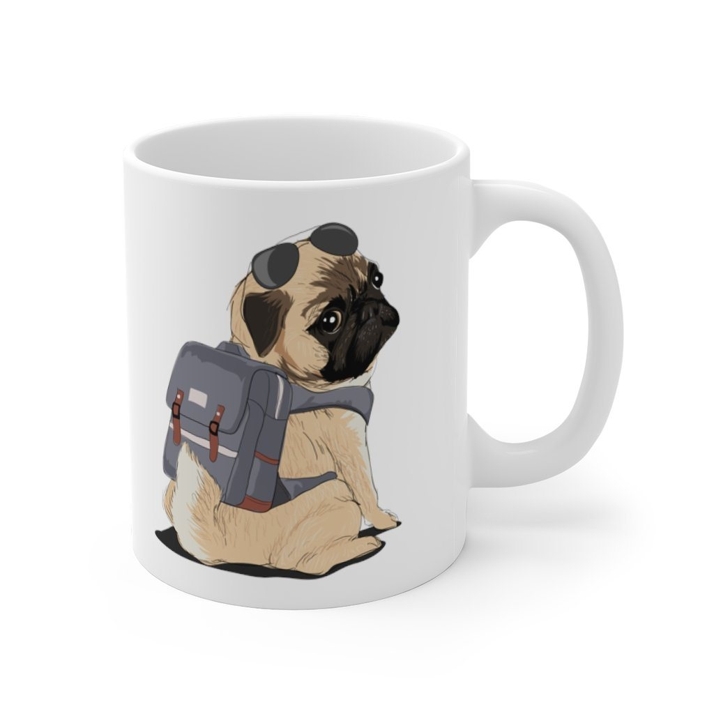 Cute Travel Pug Mug Mug