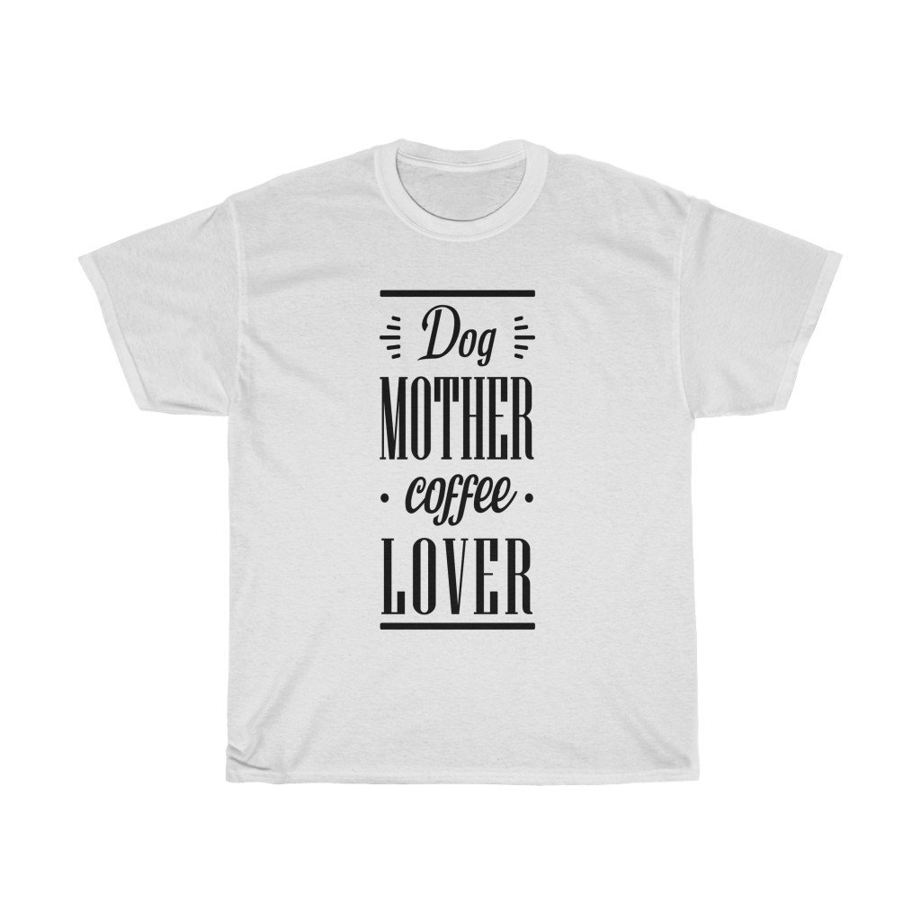 Dog Mother Coffee Lover Tee - Dark T-Shirt White S