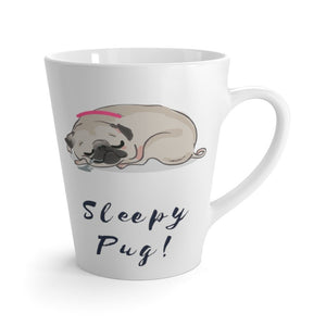 Sleepy Pug! Latte Coffee Mug Mug 12oz
