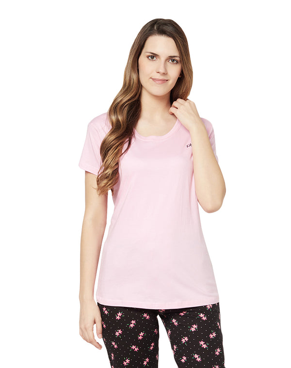 Light Pink sleep T-shirt in soft cotton