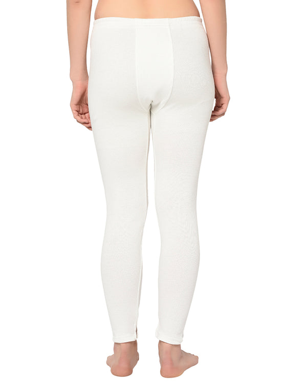 Women pearl white black thermal pant