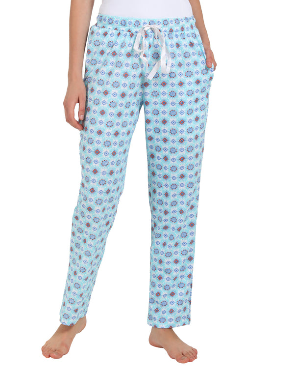 Sky Blue Printed Sleep Comfort pyjamas