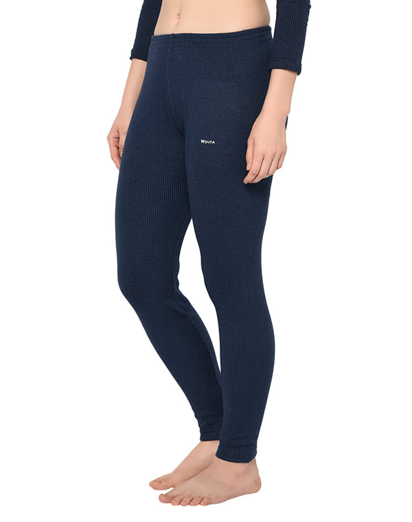 Women navy thermal premium pant