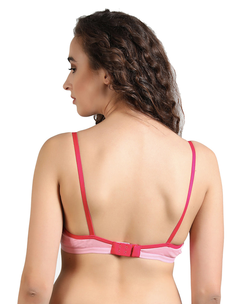 Paris Beauty Irish Seamless Low Coverage T Shirt Pink Bra