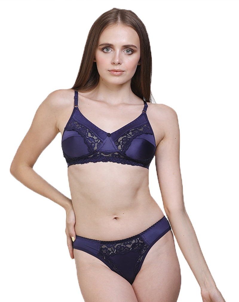 Groversons Paris Beauty Lace Bridal Set- 5150 Purple