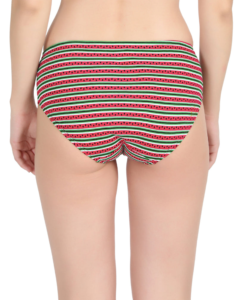 Watermelon print assorted regular panties - Pack of 3