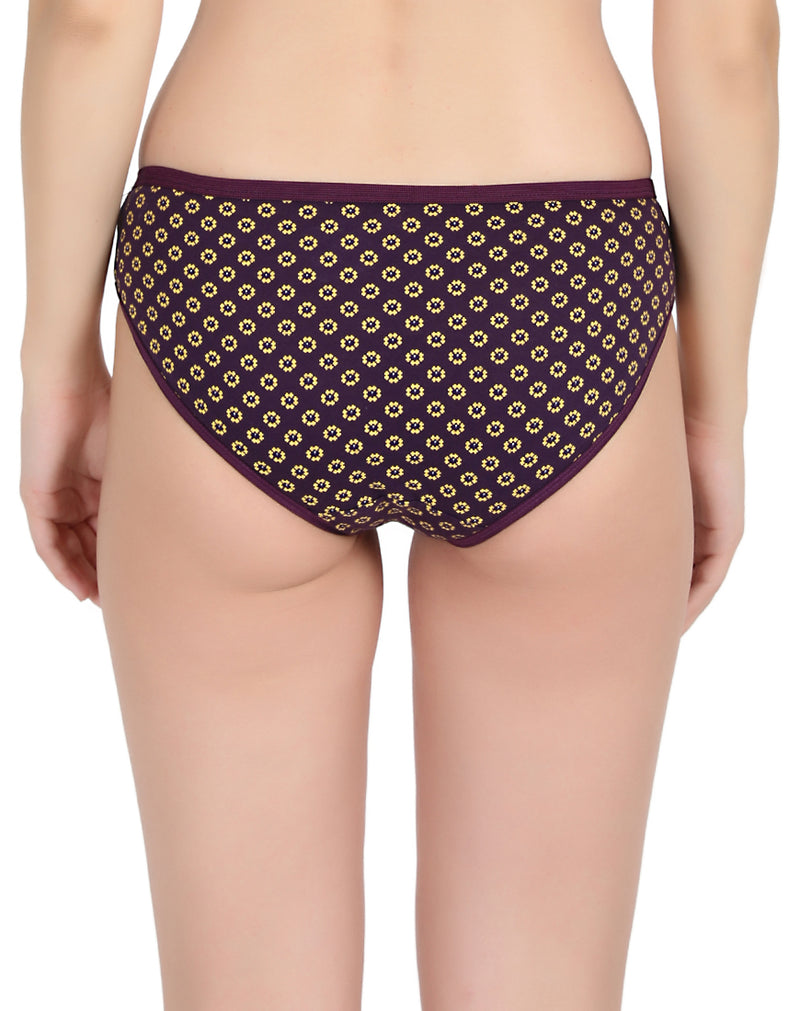 Regular printed cotton panties(Pack of 3)