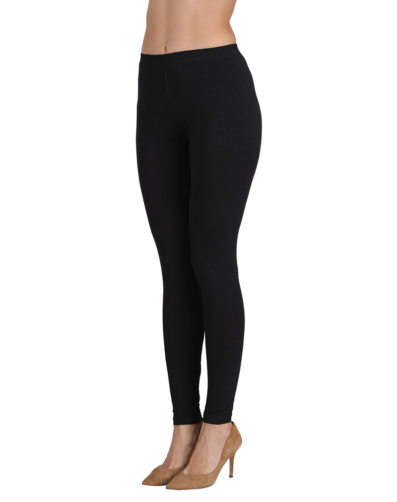 Ankle Length Leggings Combo of 3(Black, Lavender, white)