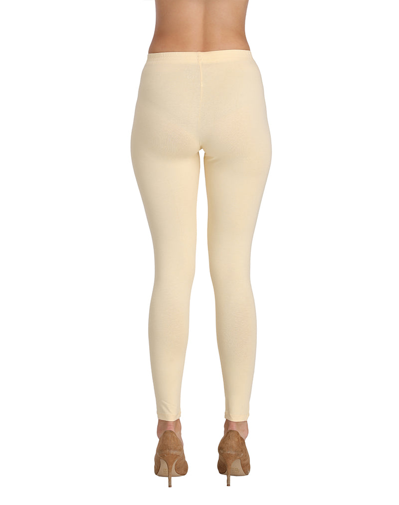 Butter color ankle length leggings