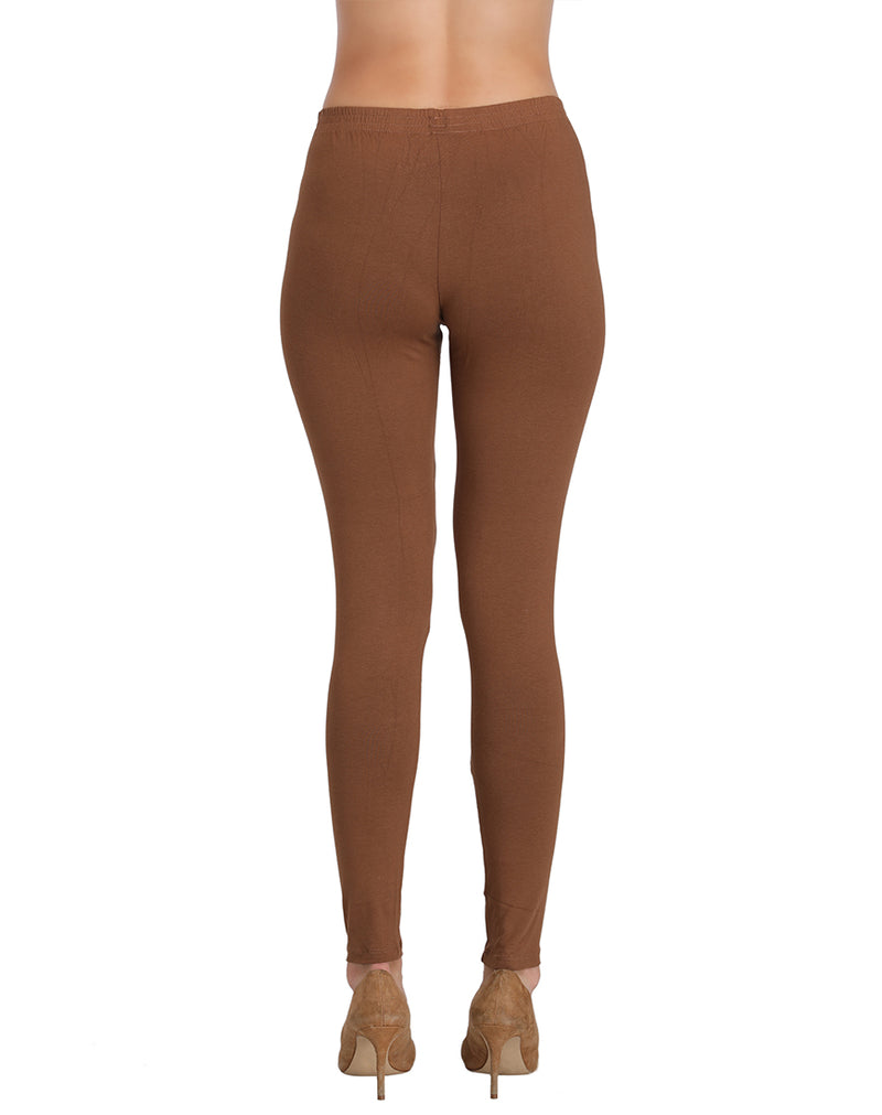 Premium quality ankle leggings Cadbury color