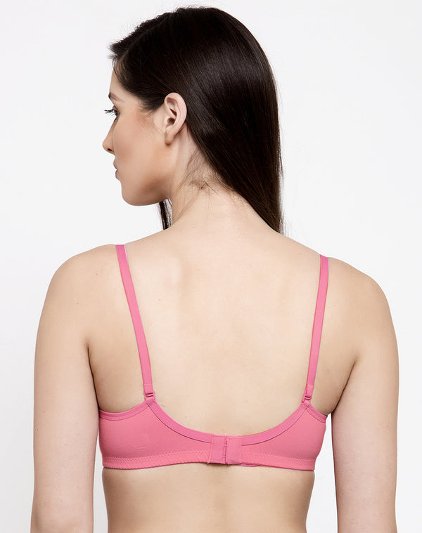 Light Padded Wire Free T-shirt Bra-Mauve
