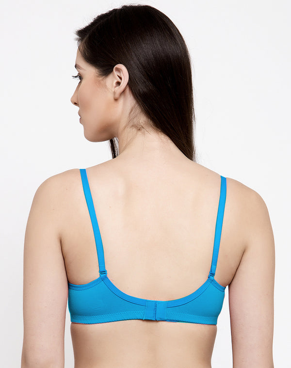 LIGHT PADDED WIRE FREE T-SHIRTS BRA-OCEAN BLUE