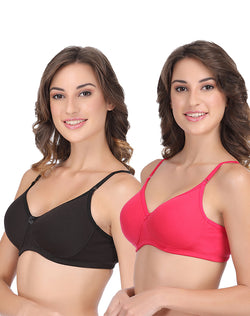 GROVERSONS PARIS BEAUTY FULL COVERAGE SOLID PADDED BRA - PACK OF 2