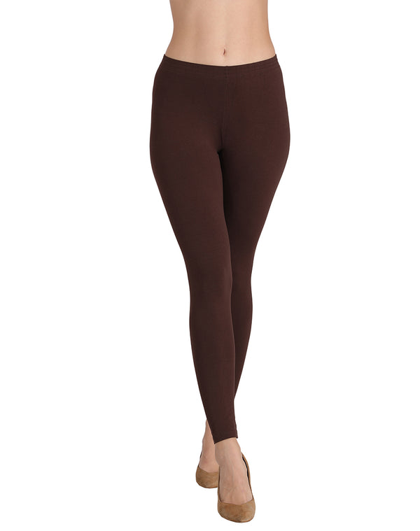 Ankle Length Leggings Combo of 2(Olive Green , Coffee)