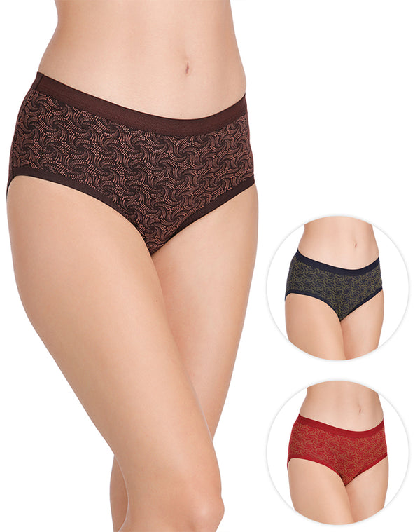 Cotton rich full coverage panties – pack of 3