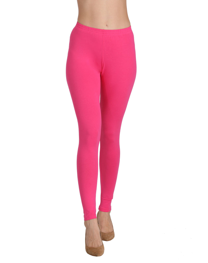 Ankle length leggings Fushia pink