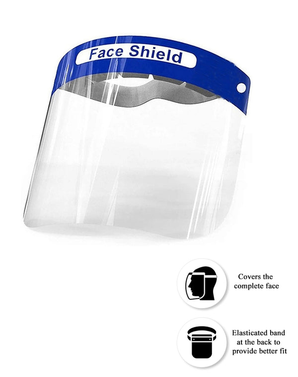 Safety Face Shield with Elasticized Head Band