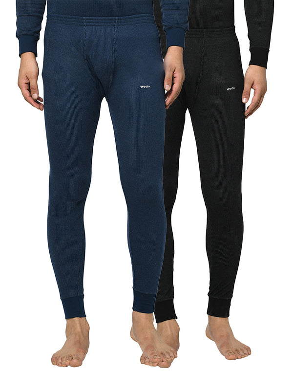 WINTA MEN'S FULL LENGTH THERMAL PANT - PACK OF 2(NAVY & BLACK)