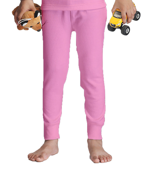 KIDS UNISEX THERMAL FULL LENGTH PAJAMA- PINK