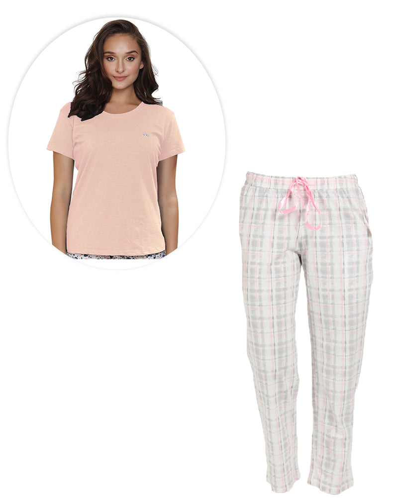 Super soft and comfortable printed pyjama and Plain T-shirt set