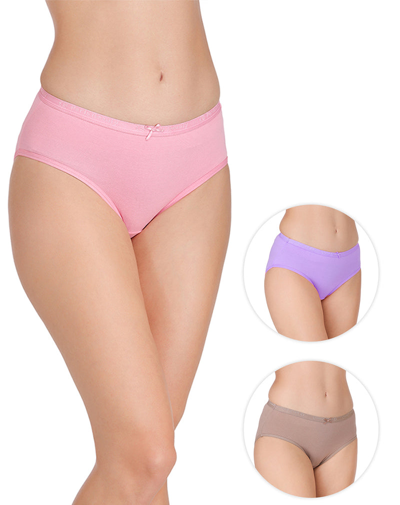 Soft Fabric Printed Full Coverage Regular Panty(Pack of 3)