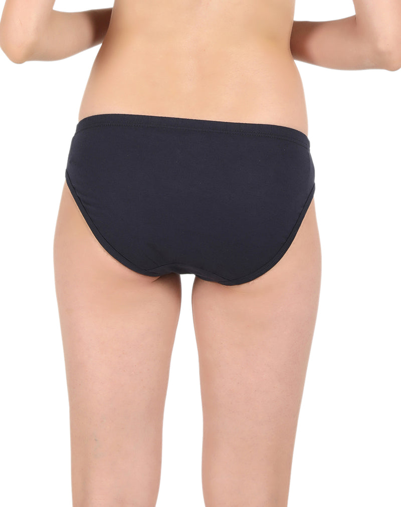 Regular Basic Plain Cotton Panties (Pack of 3)