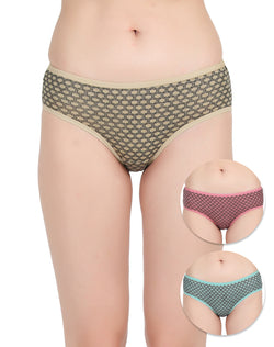 Cotton Rich Printed Panties(Pack of 3)