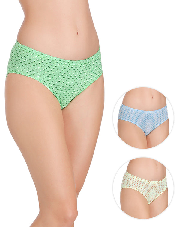 Light color rear coverage printed panties – pack of 3