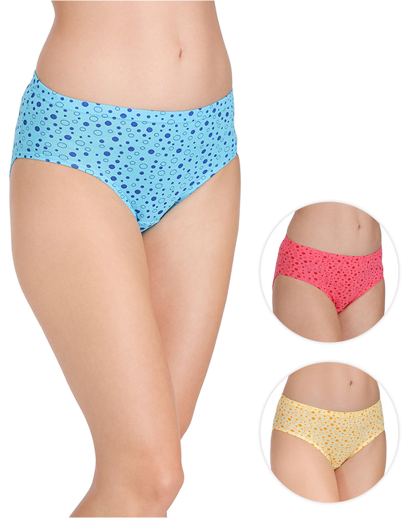 Dot Print Panties With Full Coverage(Pack of 3)
