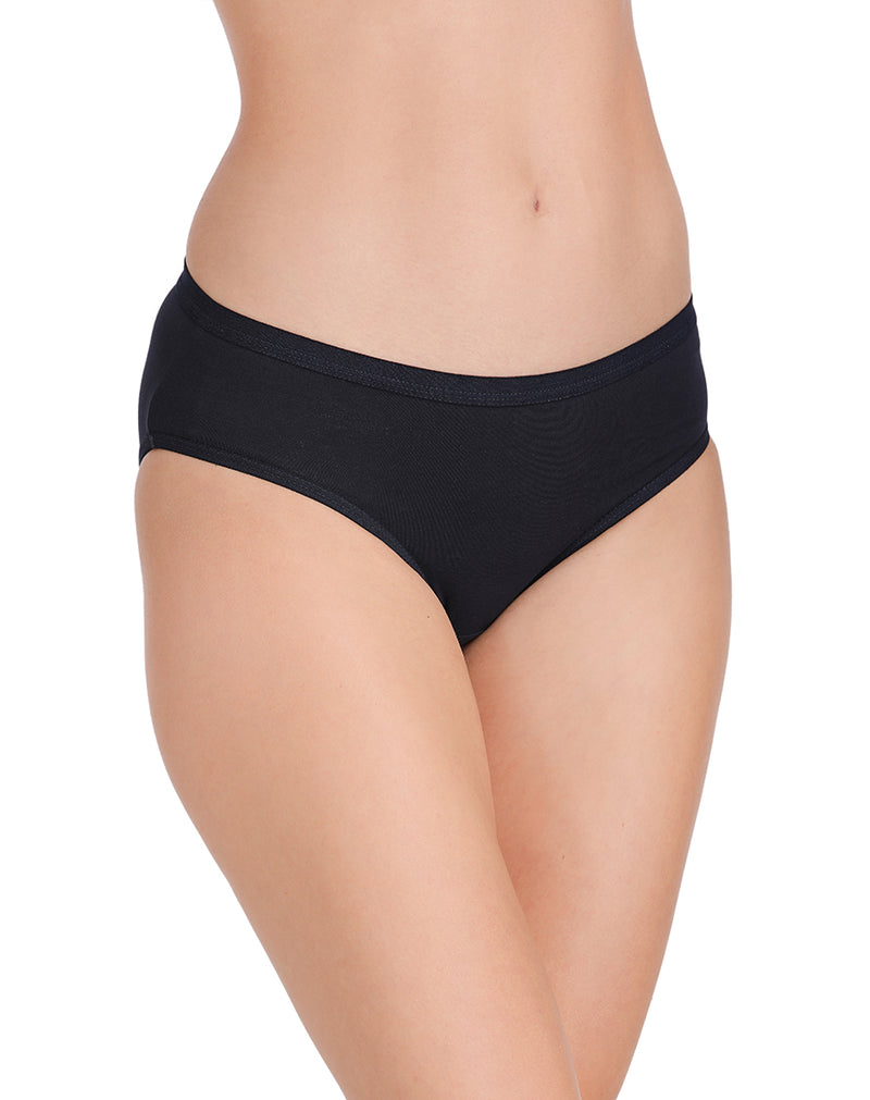 Mid Rise Full Coverage Plain Panties(Pack of 3)