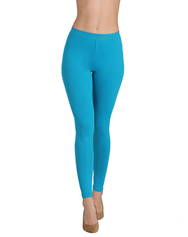Turkish blue ankle length leggings