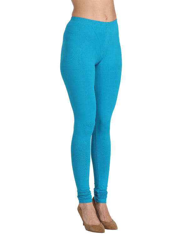 blue leggings for women