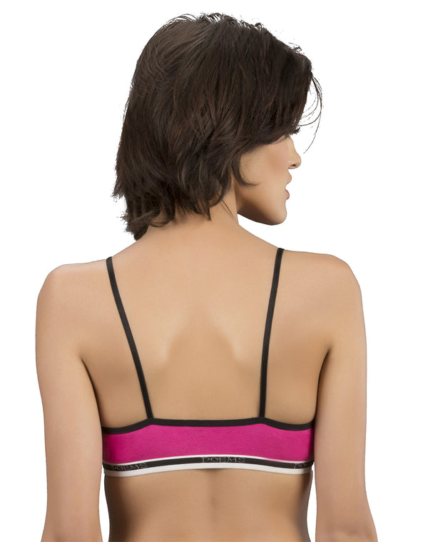 Cotton Rich Training Sports Bra-Pink
