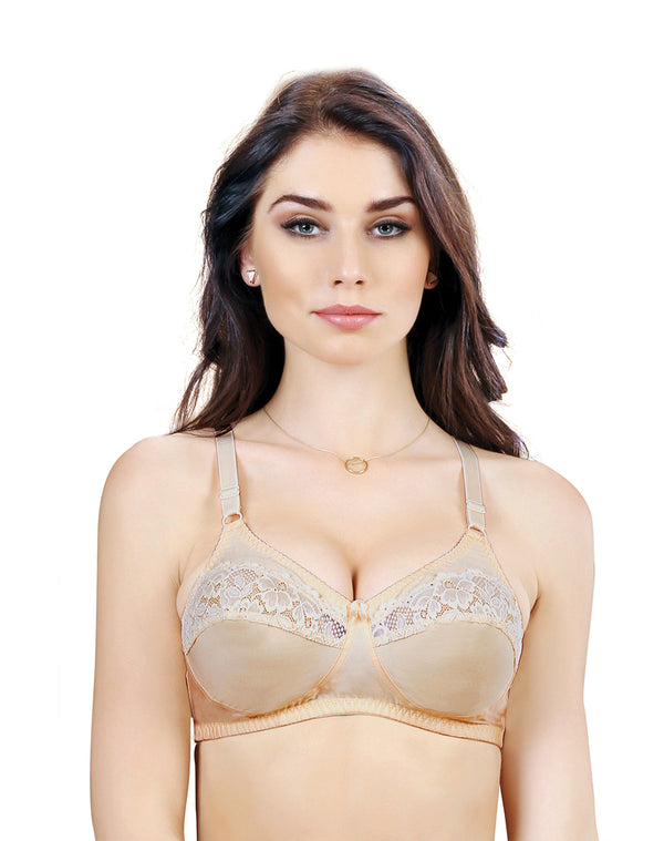 Non Padded Wirefree Full Coverage Bra –Nude
