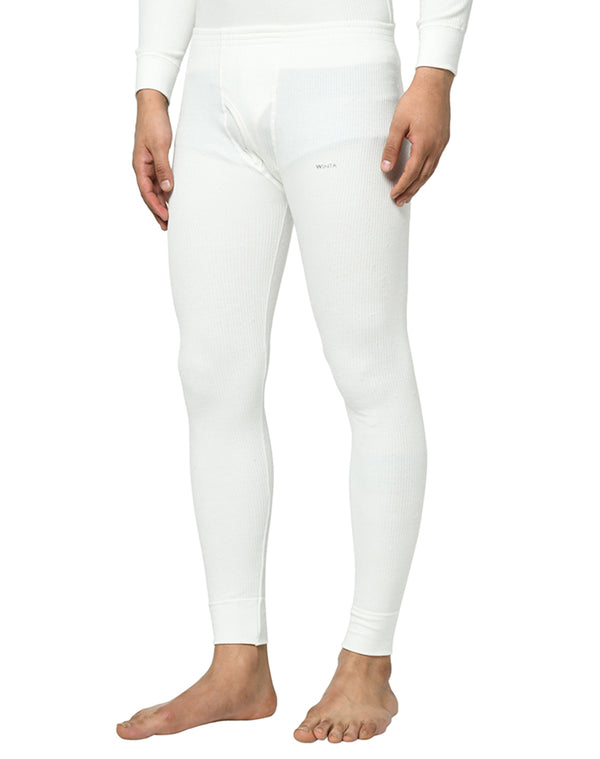 Mens Thermal Lower Pants - Pearl White