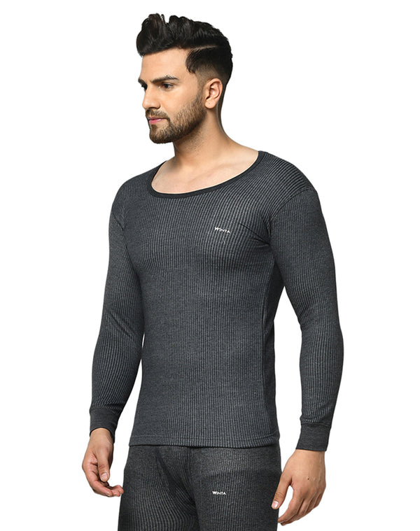 Winta Men's grey round neck thermal top