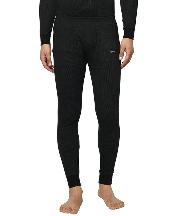 Mens thermal Lower pants - Charcoal Black