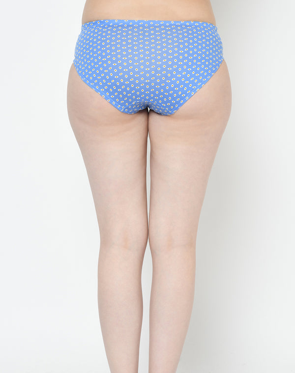 Soft Cotton Mid Waist Printed Panties - Set of 3