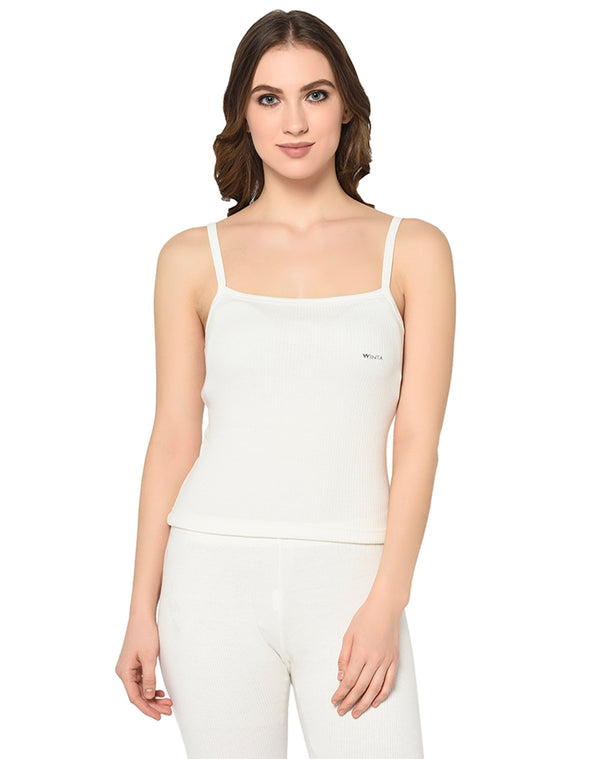 WINTA WOMEN PEARL SLEEVELESS WHITE THERMAL TOP - PACK OF 2