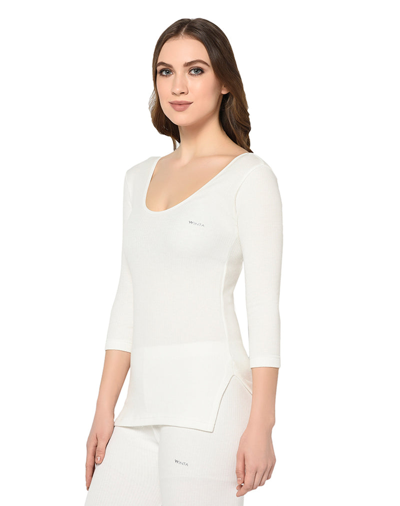 WINTA WOMEN PEARL WHITE THERMAL TOP - PACK OF 2