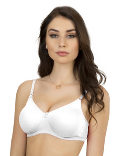 Non Padded Non Wired Seamless T-Shirt Bra - White