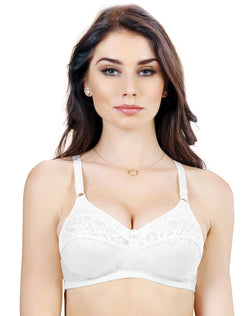 Non Padded Wirefree Full Coverage Bra – White