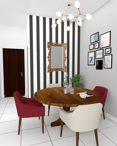 Dining room with a modern eclectic twist