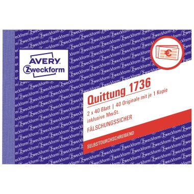 Avery Zweckform Quittung 1736