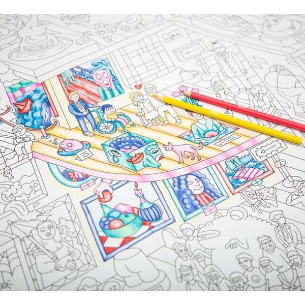 OMY Giant Coloring Poster Serie 70cm x 100cm