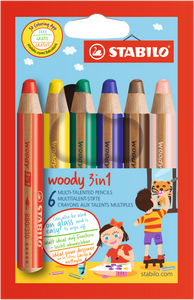 STABILO Buntstift woody 3in1